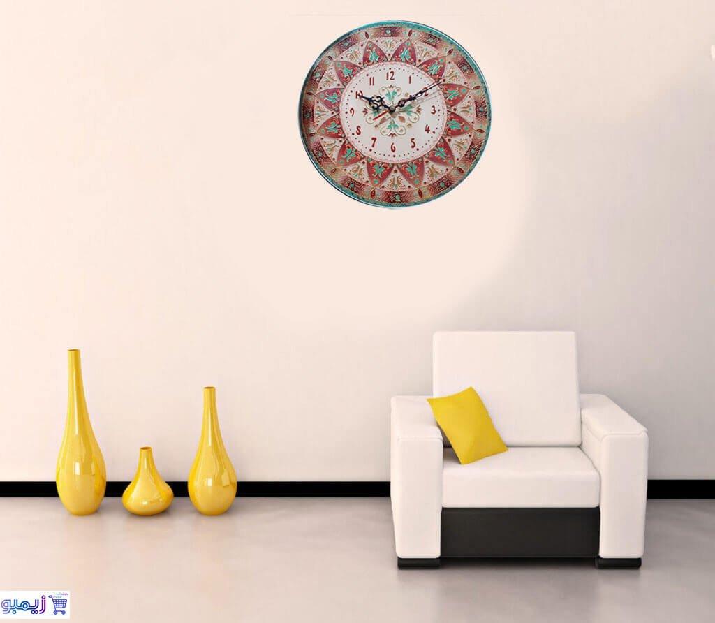 ساعت دیواری مدل نقطه کوبی با طرح ماندالا