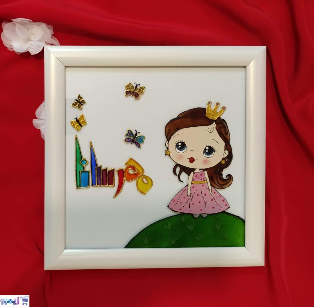 تابلو اتاق دخترانه اسم مهرسانا