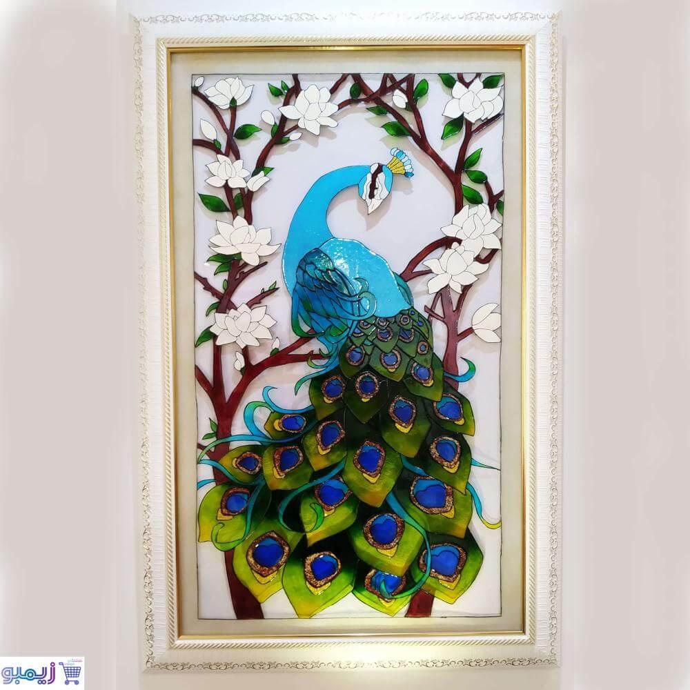 تابلوی طاووس ویترای