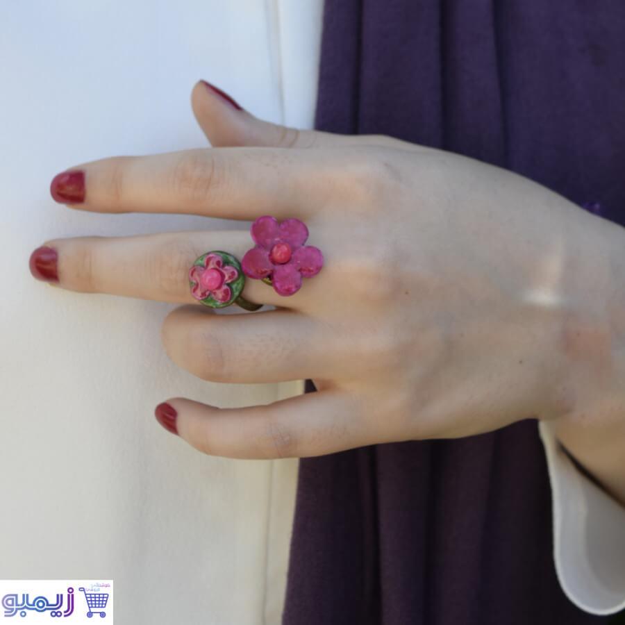 انگشتر ویترای طرح گل و غنچه