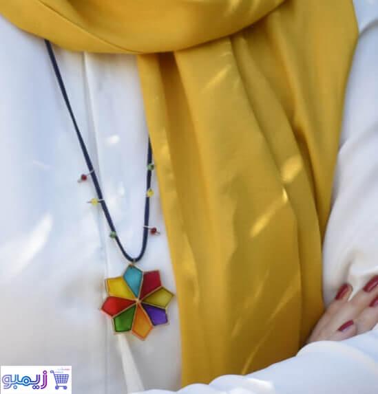 گردنبند طرح رنگی رنگی